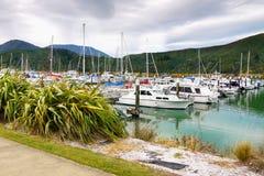 Port de yacht, Abel Tasman NP, la Zélande Image libre de droits