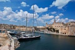 Port de yacht dans Birgu images libres de droits