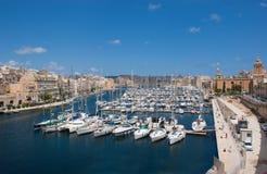 Port de yacht dans Birgu image libre de droits
