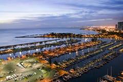 Port de yacht de Honolulu Images stock