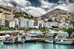Port de yacht de Saranda photo stock
