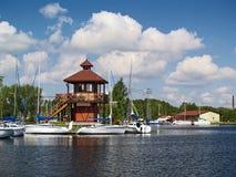 Port de yachts Images libres de droits
