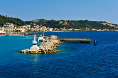 Port de Zakynthos un beau summerday. Images stock