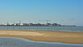 Port de zeebrugge photographie stock libre de droits