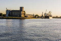 Port Dead Vistula. stock photos
