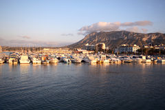Port of Denia in costa blanca Stock Images