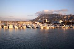 Port of Denia in costa blanca stock images