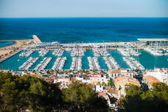 Port of Denia in Costa Blanca, Spain royalty free stock photos