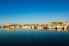 He Port of Denia from Spain stock photography