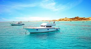 Port des bateaux de pêche dans Hurghada photo stock