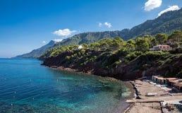 Port des Canonge. In Majorca Balearic Islands, Spain royalty free stock photo