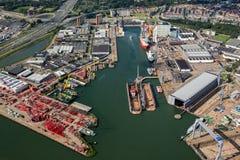 Port des compagnies maritimes de Rotterdam photographie stock