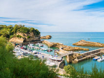 Port Des Pecheurs at Biarritz, Basque country Royalty Free Stock Photos