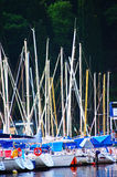 Port, detail of boats and masts Royalty Free Stock Photo