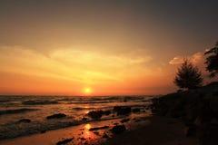 Port Dicksoon Beach. Sunset at Port Dickson beach in Negeri Sembilan, Malaysia Royalty Free Stock Photography