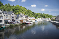 The Port of Dinan, Brittany, France Stock Images