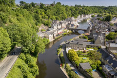 Port of Dinan and river Rance Stock Image