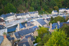 The Port of Dinan  River Rance Brittany France Royalty Free Stock Photo