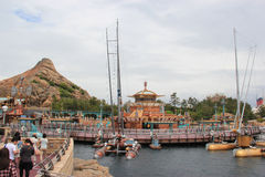 Port Discovery at Tokyo DisneySea. Tokyo, Japan - May 29, 2013: Port Discovery at Tokyo DisneySea is themed as the marina of the future. It is somewhat of a Stock Images