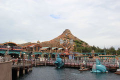 Port Discovery at Tokyo DisneySea. Tokyo, Japan - May 29, 2013: Port Discovery at Tokyo DisneySea is themed as the marina of the future. It is somewhat of a Royalty Free Stock Images