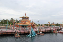 Port Discovery at Tokyo DisneySea. Tokyo, Japan - May 29, 2013: Port Discovery at Tokyo DisneySea is themed as the marina of the future. It is somewhat of a Royalty Free Stock Photo
