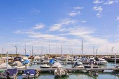 Port dla małych przyjemności łodzi Obraz Stock