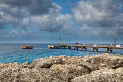 Port, Docks and Pier in Bridgetown, Barbados. Bridgetown, Barbados, in this beautiful island of the Caribbean Netherlands, with its paradisiac beaches and water Royalty Free Stock Images