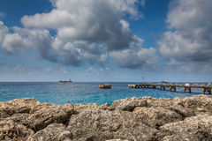 Port, Docks and Pier in Bridgetown, Barbados. Bridgetown, Barbados, in this beautiful island of the Caribbean Netherlands, with its paradisiac beaches and water Royalty Free Stock Photography