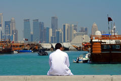 In the port, Doha, Qatar Royalty Free Stock Images