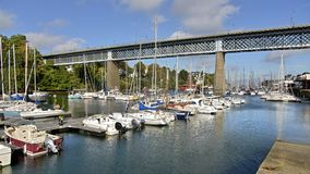Port of Douarnenez in France stock photo