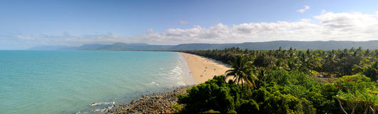 Port Douglas. Four Mile Beach Port Douglas Panorama Royalty Free Stock Photography