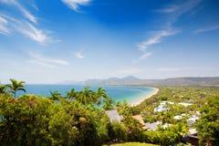 Port Douglas beach on sunny day stock photos