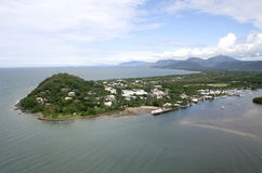 Port Douglas, Far North Queensland. Aerial view of Port Douglas looking towards the Daintree Range, Queensland, Australia Stock Photo