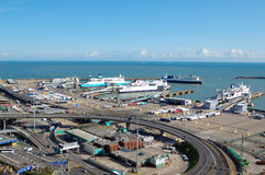 The Port of Dover. With several ferries in sight Royalty Free Stock Image
