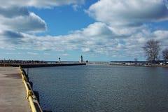 Port Dover Harbor Arkivfoton