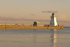 Port Dover lighthouse in twilight Stock Images
