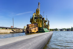 Port dredging Stock Photography