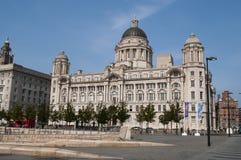 Port du bâtiment de Liverpool, Pier Head, Liverpool, R-U image libre de droits