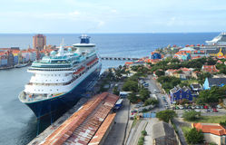 Port du Curaçao de caribou Image libre de droits