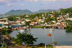 Port du nord du St Lucia, Castries Images stock