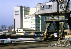 Port du Rhin de Kehl Photos libres de droits