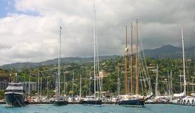 Port du Tahiti photo libre de droits