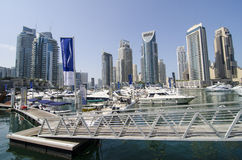 The port of dubai marina Stock Photo