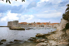 Port in Dubrovnik, Croatia. Royalty Free Stock Photo