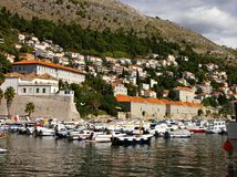 Port of Dubrovnik in Croatia Stock Photo