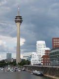 Port Duesseldorf de medias Photographie stock libre de droits