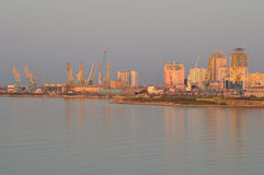 The Port of Durres. On Sunrise Stock Photography