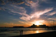 Port at dusk Stock Photos