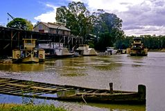 Port of Echuca, The Murray River, Victoria, Australia Royalty Free Stock Images