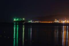 Port Eilat - przy nocą Fotografia Royalty Free